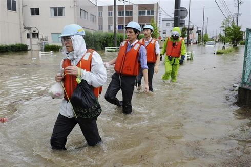 Typhoon Roke hits Japan