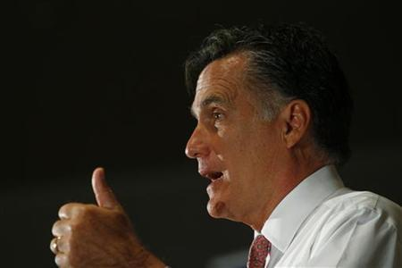 Republican presidential candidate and former Massachusetts governor Mitt Romney speaks during a town hall meeting in Sun Lakes, Arizona September 14, 2011. REUTERS/Joshua Lott