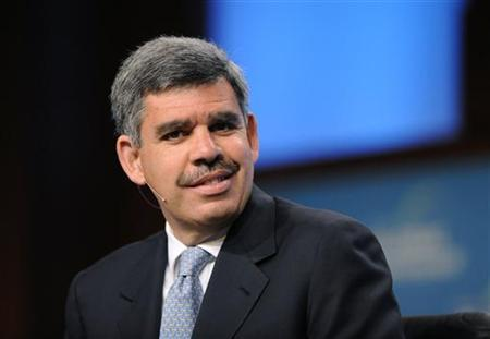 Mohamed El-Erian, Chief Executive Officer and Co-Chief Investment Officer, Pacific Investment Management Co., participates in the ''From Recession to Recovery'' panel at the 2010 Milken Institute Global Conference in Beverly Hills, California April 26, 2010. REUTERS/Phil McCarten
