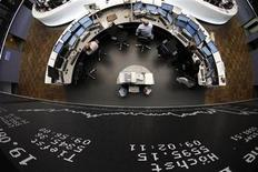 <p>The DAX board is pictured at the Frankfurt stock exchange August 19, 2011. REUTERS/Alex Domanski</p>