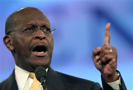 U.S. presidential candidate Herman Cain speaks to delegates during the Republican Party of Florida Presidency 5 Convention in Orlando, Florida September 24, 2011. REUTERS/Phelan Ebenhack