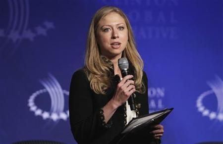 Chelsea Clinton speaks during a panel discussion regarding technologies for economic empowerment at the Clinton Global Initiative in New York, September 22, 2011. REUTERS/Lucas Jackson