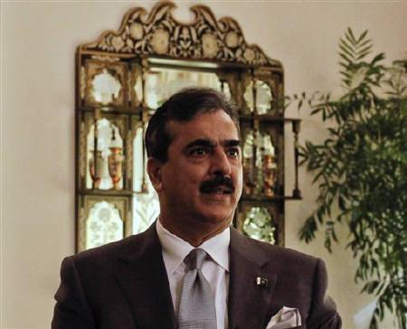 Pakistan's Prime Minister Yusuf Raza Gilani speaks during an interview with Reuters at his residence in Islamabad September 27, 2011. REUTERS/Mian Khursheed