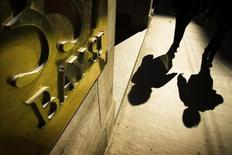 <p>People walk by a Bay Street sign at the financial district in Toronto in this October 10, 2008 file photo. REUTERS/Mark Blinch</p>