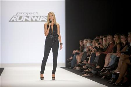 Judge and hostess Heidi Klum appears at the Project Runway 2012 fashion show during New York Fashion Week September 9, 2011. REUTERS/Lee Celano