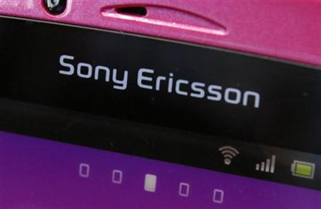 A Sony Ericsson logo on a smartphone is pictured at a mobile phone shop in Tokyo, October 7, 2011. REUTERS/Yuriko Nakao