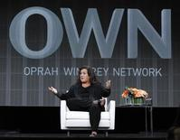 "<p>Host Rosie O'Donnell answers a question during the OWN session for ""The Rosie Show"" at the 2011 Summer Television Critics Association Cable Press Tour in Beverly Hills, California July 29, 2011. REUTERS/Mario Anzuoni</p>"