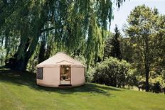 "<p>A $75,000 yurt featured in the 2011 Neiman Marcus Christmas book. At 18 feet in diameter, the hand-painted yurt is ""the ideal simulation of a genie's posh bottle,"" the catalog says. The portable structure includes one-of-a-kind designer down-filled pillows and a crystal chandelier. REUTERS/Neiman Marcus</p>"