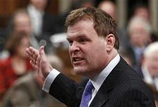 <p>Canada's Foreign Minister John Baird speaks during Question Period in the House of Commons on Parliament Hill in Ottawa October 4, 2011. REUTERS/Chris Wattie</p>