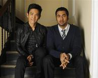 "<p>Actors John Cho (L) and Kal Penn pose for a portrait while promoting their upcoming movie ""A Very Harold & Kumar 3D Christmas"" in Beverly Hills, California October 30, 2011. REUTERS/Mario Anzuoni</p>"