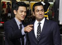 "<p>Actors John Cho (L) and Kal Penn pose at the premiere of their new film ""A Very Harold & Kumar 3D Christmas"" in Hollywood November 2, 2011. REUTERS/Fred Prouser</p>"