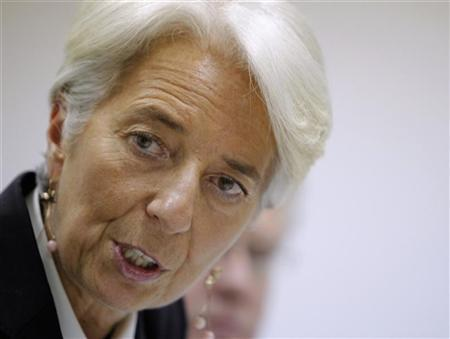 IMF Managing Director Christine Lagarde gestures during a news conference in Moscow November 8, 2011. REUTERS/Anton Golubev