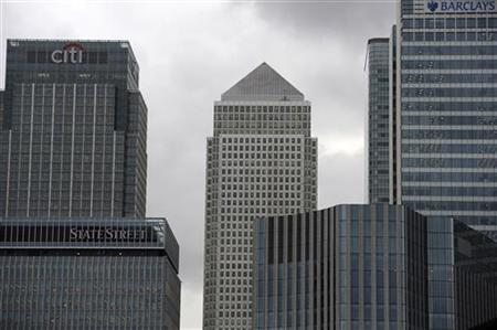 Banks and offices are seen in the Canary Wharf financial district in East London, September 22, 2011. REUTERS/Paul Hackett