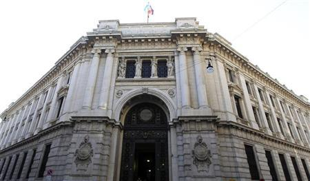 The Bank of Italy building is seen downtown Milan, November 25, 2011. REUTERS/Stefano Rellandini (ITALY - Tags: BUSINESS)