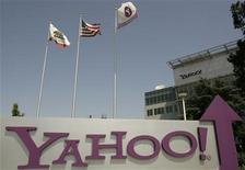 <p>Foto de archivo de la casa matriz de la firma Yahoo en Sunnyvale, Estados Unidos, mayo 5 2008. Yahoo Inc estudia un plan para vender la mayoría de sus activos más valiosos en Asia en un acuerdo valorado aproximadamente en 17.000 millones de dólares, dijeron el miércoles fuentes con conocimiento de la materia, logrando señales de aprobación de Wall Street y haciendo subir sus acciones. REUTERS/Robert Galbraith</p>