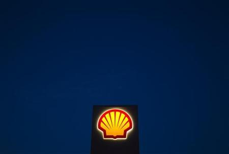 A Shell oil and gas sign is pictured near Nowshera, Pakistan's northwest Khyber-Pakhtunkhwa Province September 8, 2010. REUTERS/Morteza Nikoubazl