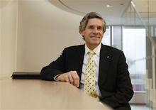 <p>Rob McEwen, CEO of McEwen Mining, poses after an interview in Toronto, January 23, 2012. REUTERS/Peter Jones</p>