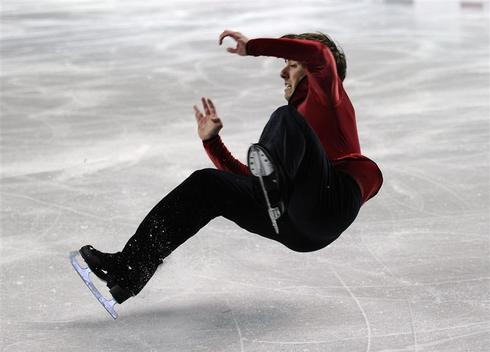 Dancing (and falling) on ice