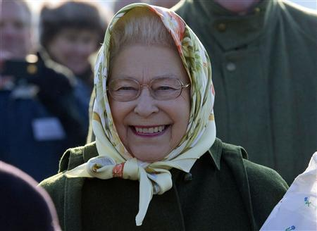 Britain's Queen Elizabeth attends a tree planting ceremony in the Diamond Jubilee Wood on her Sandringham Estate in Norfolk, eastern England February 3, 2012. The Queen marks her 60th year on the throne in 2012. REUTERS/Arthur Edwards/pool