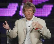 """<p>Nigel Lythgoe, executive producer and judge of """"So You Think You Can Dance"""", discusses the show at the Fox Summer Television Critics Association press tour in Pasadena, California August 6, 2009. REUTERS/Fred Prouser</p>"""