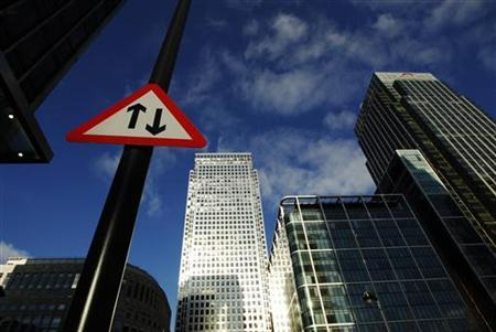 A general view shows the Canary Wharf business district in London, February 3, 2012. REUTERS/Luke MacGregor