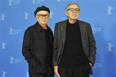 <p>Directors Vittorio (L) and Paolo Taviani pose during a photocall to promote the movie Caesare Deve Morire (Caesar Must Die) at the 62nd Berlinale International Film Festival in Berlin February 11, 2012. REUTERS/Morris Mac Matzen</p>
