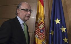 <p>Le ministre des Finances espagnol Cristobal Montoro. Le déficit public de l'Espagne a représenté 8,51% du PIB en 2011. /Photo prise le 27 février 2012/REUTERS/Juan Medina</p>