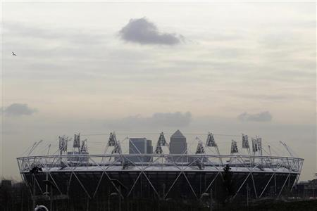 A general view of a section of the London 2012 Olympic Games Olympic Stadium is seen at the Olympic Park in London February 14, 2012. REUTERS/Stefan Wermuth