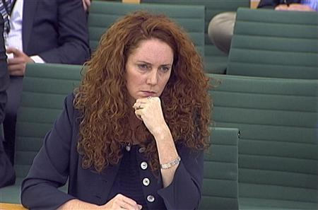 Former News International chief executive Rebekah Brooks appears before a parliamentary committee on phone hacking at Portcullis House in London July 19, 2011. REUTERS/Parbul TV via Reuters Tv