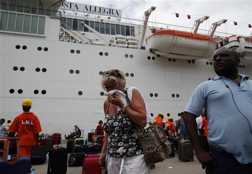 The Costa Allegra adrift