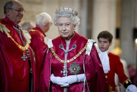 Britain's Queen Elizabeth attends a service for the Order of the British Empire, at St Paul's Cathedral in London March 7, 2012. REUTERS/Geoff Pugh/Pool