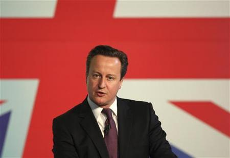 Britain's Prime Minister David Cameron in Troon, Scotland March 23, 2012. REUTERS/David Moir