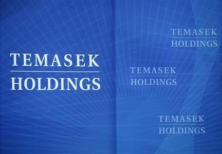 Temasek Holdings signs are seen before a media briefing at the holdings' headquarters in Singapore in this August 26, 2008 file photo. REUTERS/Tim Chong/Files