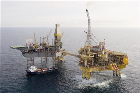 Total's Elgin platform in the North Sea, about 150 miles off the coast of Aberdeen, is seen in this undated photograph received in London on March 28, 2012. Total is still trying to identify the specific cause of a gas leak at its Elgin platform, a spokesman for the company said on Wednesday. REUTERS/Total/Handout