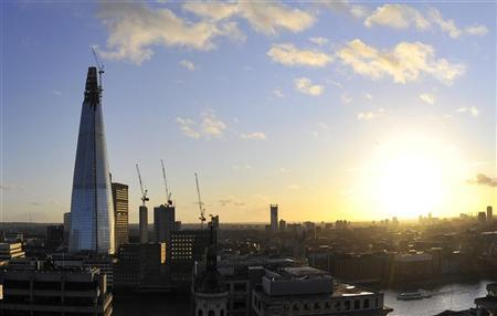 ''The Shard'' is seen at dusk in central London January 2, 2012. REUTERS/Toby Melville