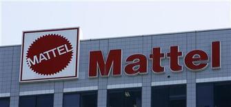 <p>Mattel, qui a dégagé un bénéfice net de 7,8 millions de dollars, 2 cents par action, au premier trimestre, contre 5 cents au même trimestre l'année dernière, à suivre lundi à la Bourse de Paris. /Photo d'archives/REUTERS/Mario Anzuoni</p>