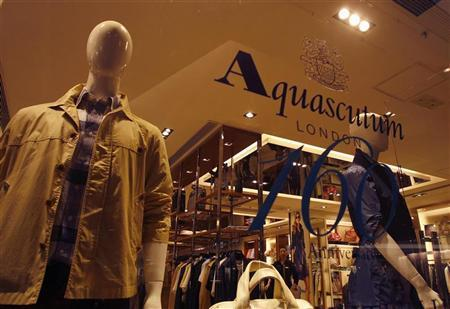 Apparel is displayed at an Aquascutum store in Hong Kong July 5, 2011. REUTERS/Bobby Yip