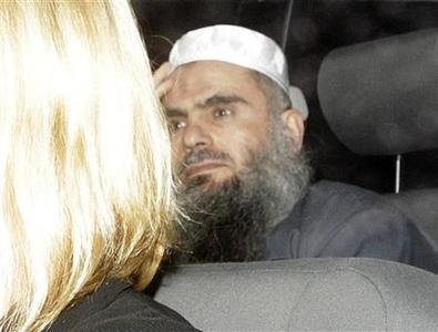 Abu Qatada is driven from Long Lartin Prison in South Littleton, central England, February 13, 2012. REUTERS/Darren Staples