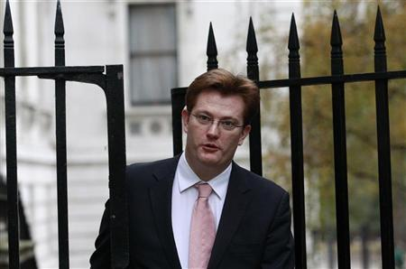 Danny Alexander arrives at 11 Downing Street in London November 29, 2011. REUTERS/Suzanne Plunkett