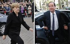 <p>La peur du risque a de nouveau lundi hanté les marchés financiers qui, très préoccupés par l'impact des élections grecques en Europe, attendent du nouveau couple franco-allemand des mesures énergiques de sortie de la crise de la zone euro, au lendemain de l'élection de François Hollande à la présidence de la République. /Photos REUTERS/Yorgos Karahalis</p>