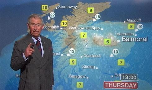 Prince Charles turns weatherman