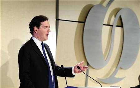 Britain's Chancellor of the Exchequer George Osborne speaks at the annual meeting of the European Bank for Reconstruction and Development, in central London May 18, 2012. REUTERS/Ian West/Pool