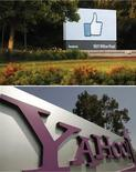 <p>Facebook et Yahoo ont décidé vendredi de nouer un partenariat dans la publicité sur internet et dans l'utilisation de brevets tout en mettant un terme aux procédures judiciaires qui les opposaient. /Photos d'archives/REUTERS/Beck Diefenbach/Robert Galbraith</p>