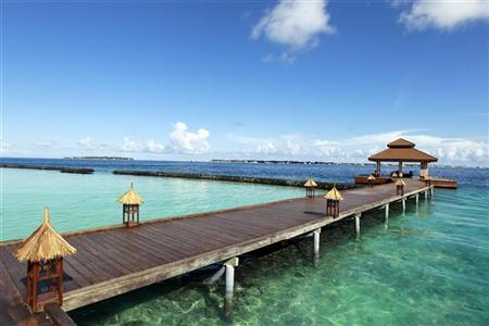 Kurumba Resort is seen on Vihamanafushi island, in this general view taken February 11, 2012. REUTERS/Dinuka Liyanawatte