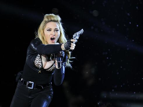 Madonna, with guns blazing