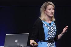 <p>Yahoo a désigné Marissa Mayer, en provenance de Google, au poste de directrice générale, qui devient ainsi la troisième personne à occuper ce siège en moins d'un an. /Photo d'archives/REUTERS/Robert Galbraith</p>