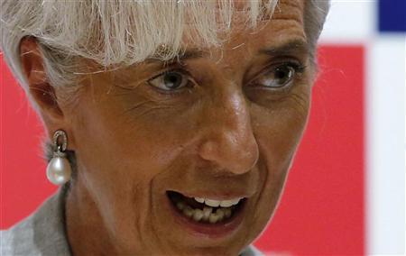 International Monetary Fund (IMF) Managing Director Christine Lagarde speaks at Keio University in Tokyo July 7, 2012. REUTERS/Kim Kyung-Hoon