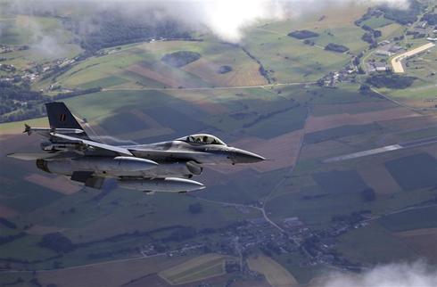 Fighter jets over Belgium