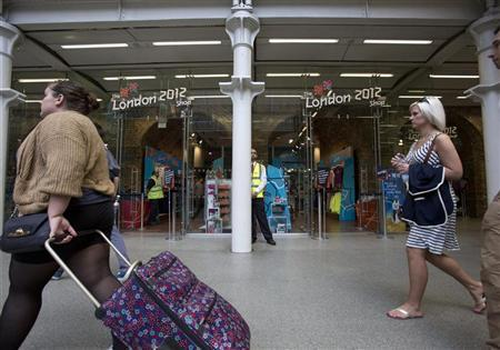 An official London 2012 shop is pictured in St Pancras International Station in London, July 22, 2012 REUTERS/Neil Hall