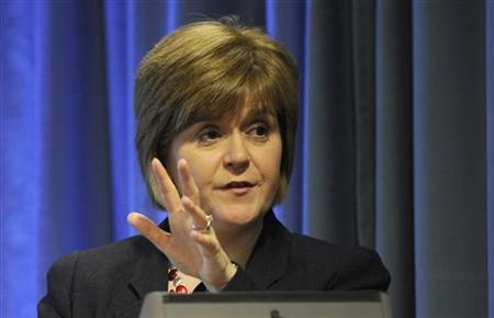 Scotland's Health Secretary Nicola Sturgeon speaks at a news conference in Edinburgh, Scotland June 6, 2012. REUTERS/Russell Cheyne